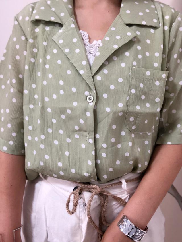 画像1: ドットシャツが可愛い