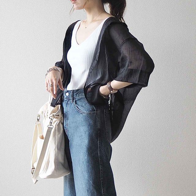 画像: 【GU】大人気!新作の半袖シアーシャツをさっそく着てみた♪ - senken trend news-最新ファッションニュース