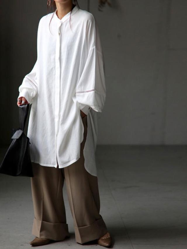 画像5: 今買って秋まで使える!「ロングシャツ」のおしゃれ見えコーデ4選