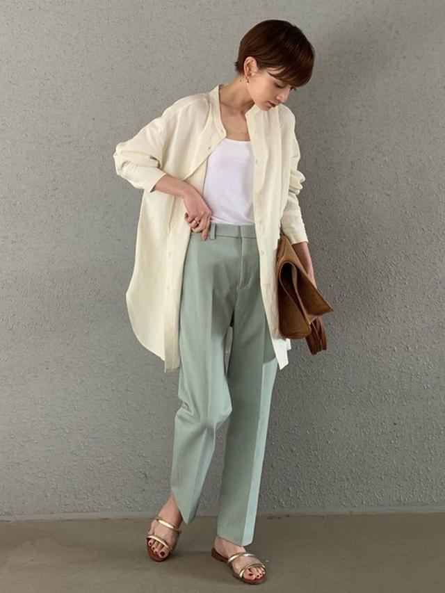 画像: 《8/18の服装》夏はシャツをジャケット感覚で取り入れる♡涼し気オフィスコーデ