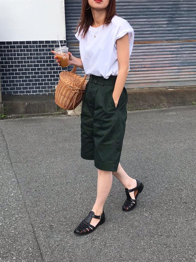 画像5: オトナ女子こそ挑戦したい!トレンドの「ハーフパンツ」着こなし術