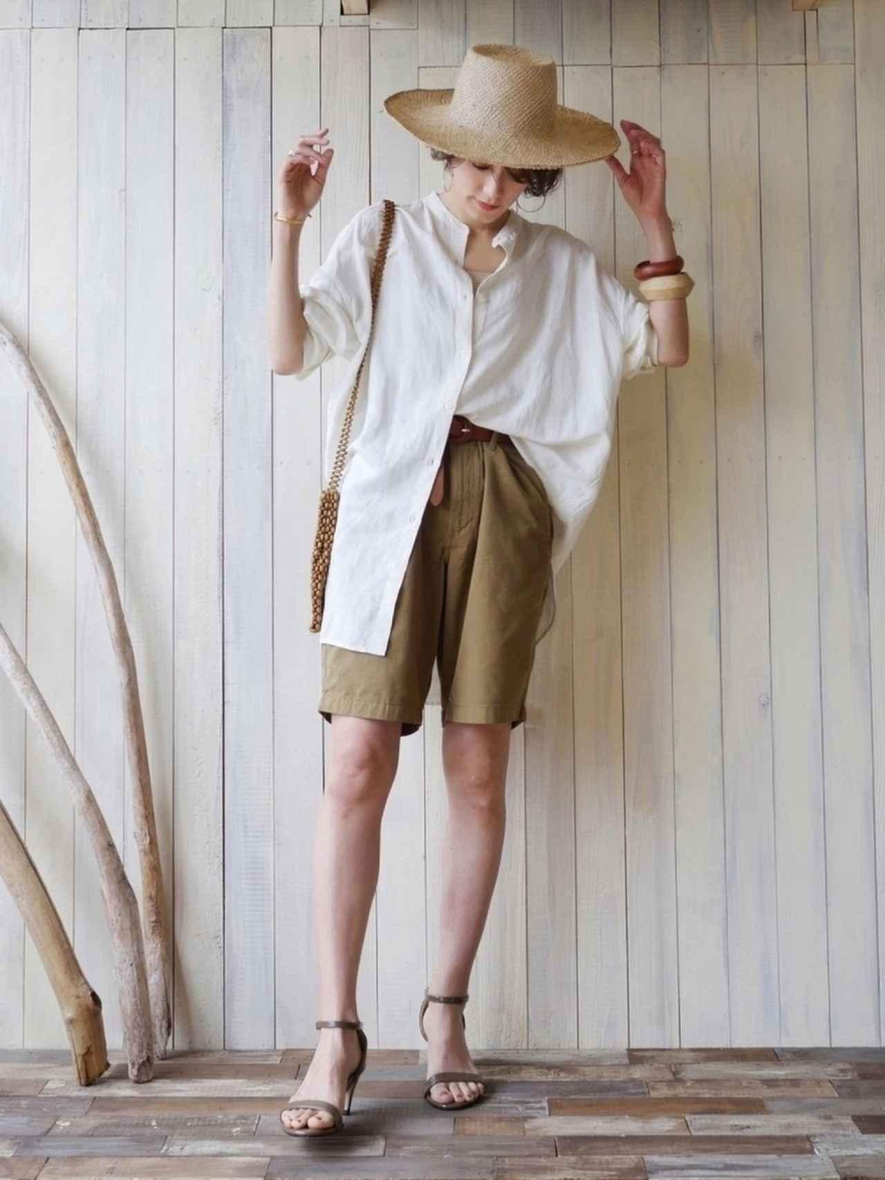 画像4: オトナ女子こそ挑戦したい!トレンドの「ハーフパンツ」着こなし術