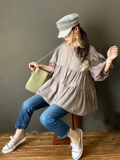 画像1: ふんわり可愛い♡着るだけでオシャレな「袖ボリュームトップス」4選