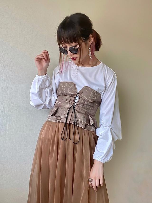画像: 【kicuri】Tシャツ¥8,800(税込)【Wide Chain Necklace S925】ネックレス平均価格¥1,300~¥5,000