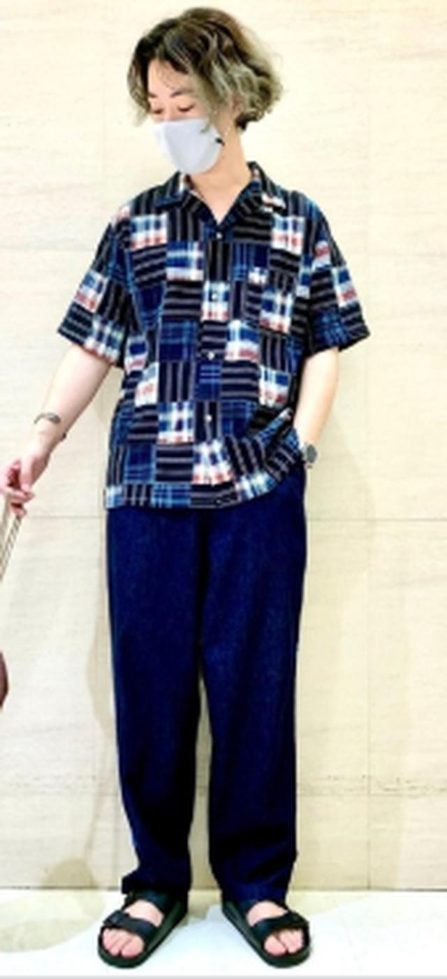 画像: 【Johnbull】ファンクショナルウォッシャブルマスク2枚セット(グレー系)¥2,750(税込)【Johnbull】シャツ・ブラウス¥10,000~(ブルー系)【Johnbull】デニムパンツ(ブルー系)