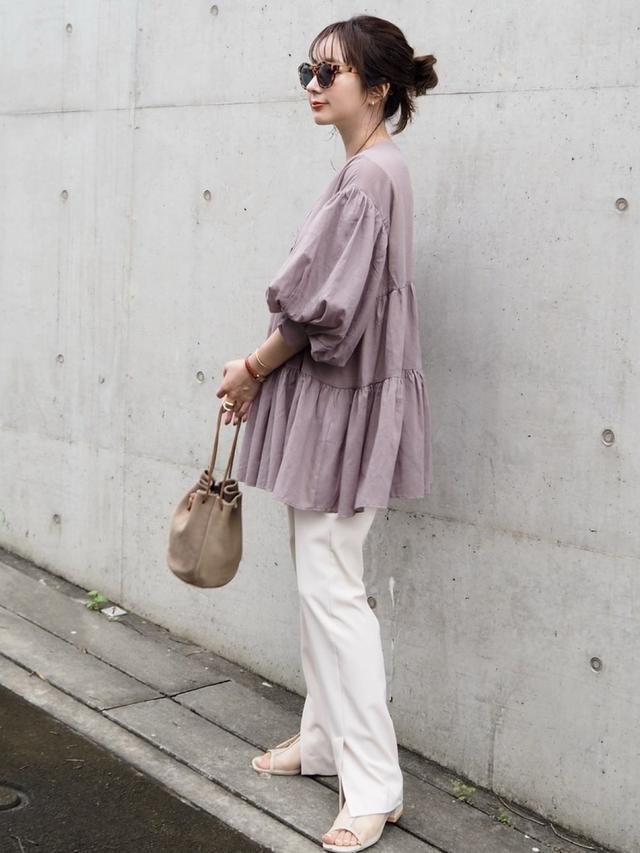 画像5: ボリューム袖で華奢見え♪チェックしたいトップス&ワンピ