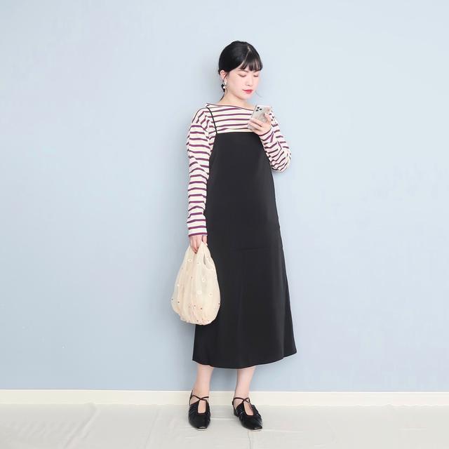 画像1: socollaのサロペットスカート