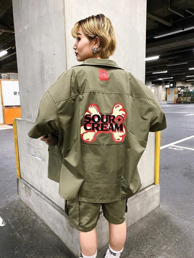 画像: 【sour creamサワークリーム】クロスボーンミルポケットシャツ 9,900円(税込)