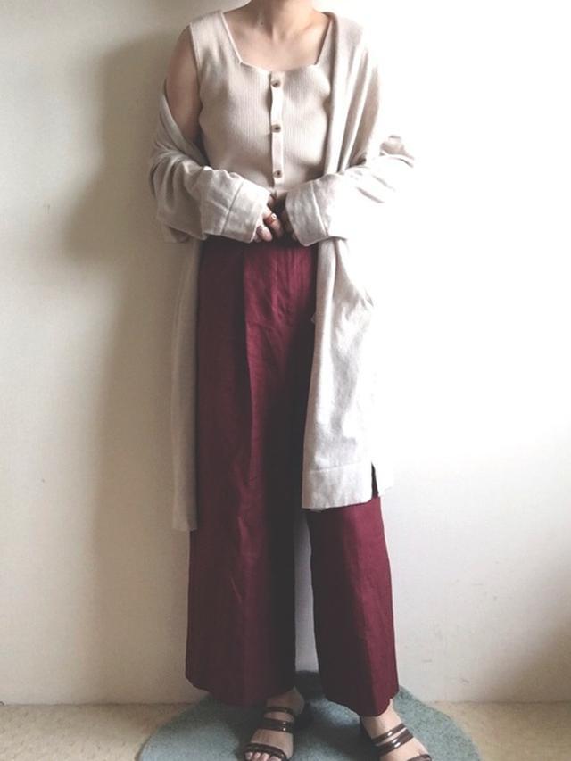 画像: 【niko and…】リネンブレンドロングカーディガン 5,390円