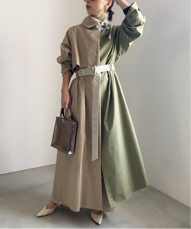 画像: 【AMERI】ASYMMETRY STAND COLLAR COAT ¥27,500(税込)