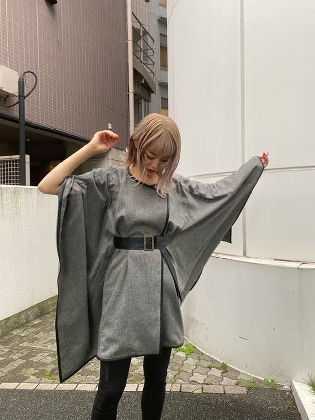 画像: 【EMODA】ワイドケープコート ¥9,990(税込)