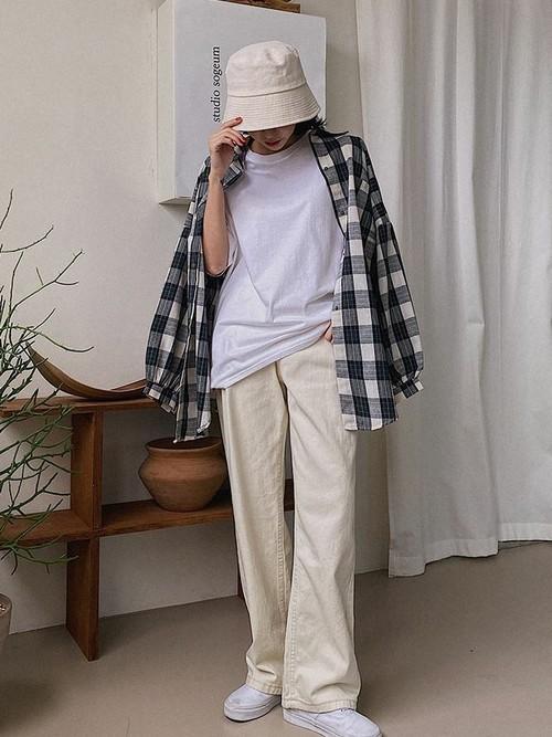 画像: 【MERONGSHOP】ボーイズライクチェックシャツ2,582円(税抜き)