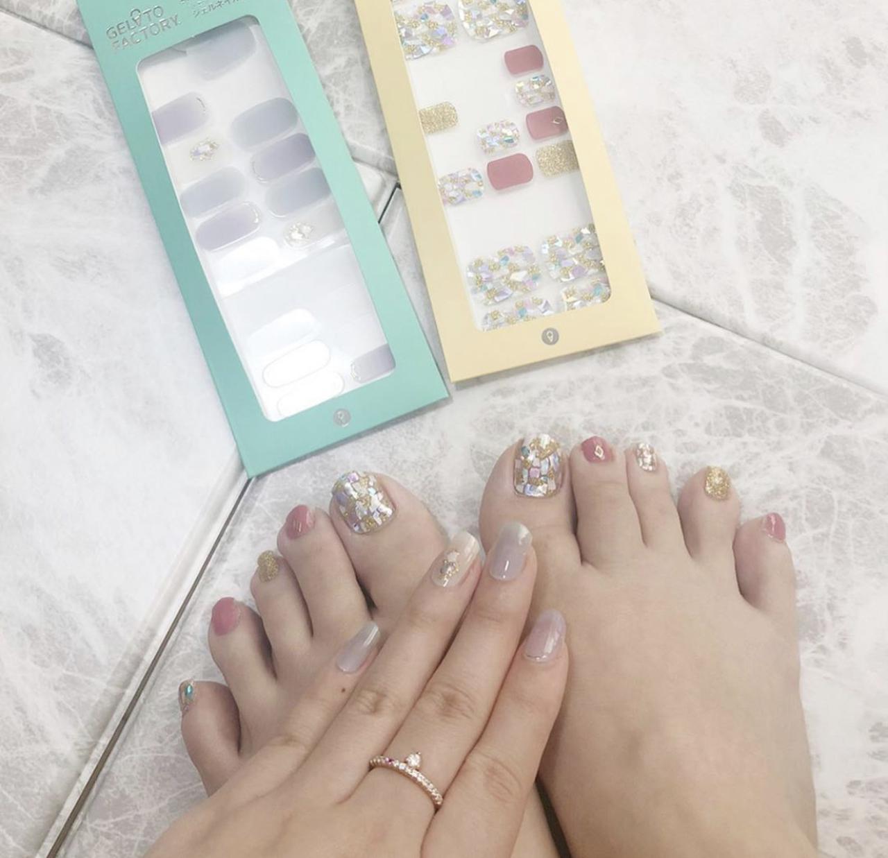 画像11: もう通う時代は古い?!韓国からやってきたお家で簡単にできる本格的ジェルネイルシール♥簡単に剥せるから普段ネイルが出来ない人も特別な日に爪から可愛く♥