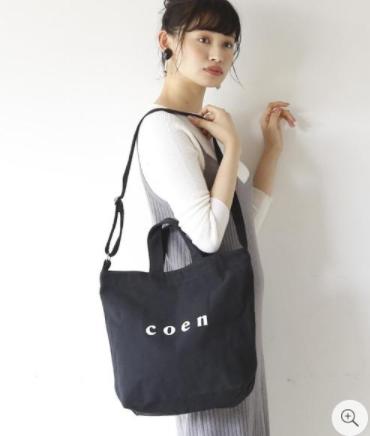 画像: 【coen】coen2WAYロゴトートバッグ¥2,200(税込)