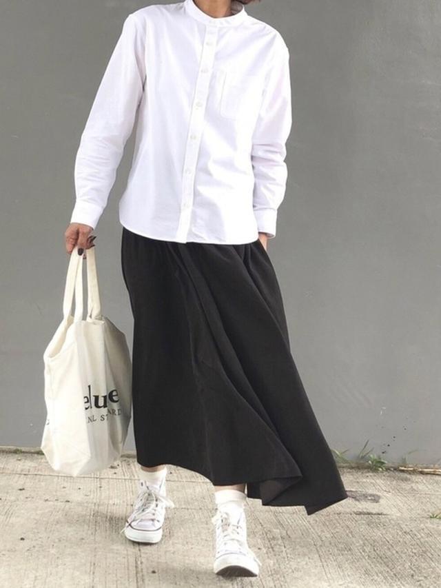 画像: 【無印良品】バンドカラーホワイトシャツ