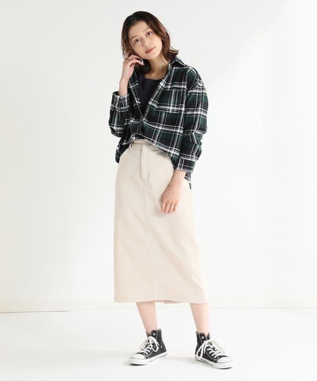 画像: 【Honeys】ネルシャツ¥1,980(税込)【Honeys】スカート 平均価格¥1,500~¥3,000
