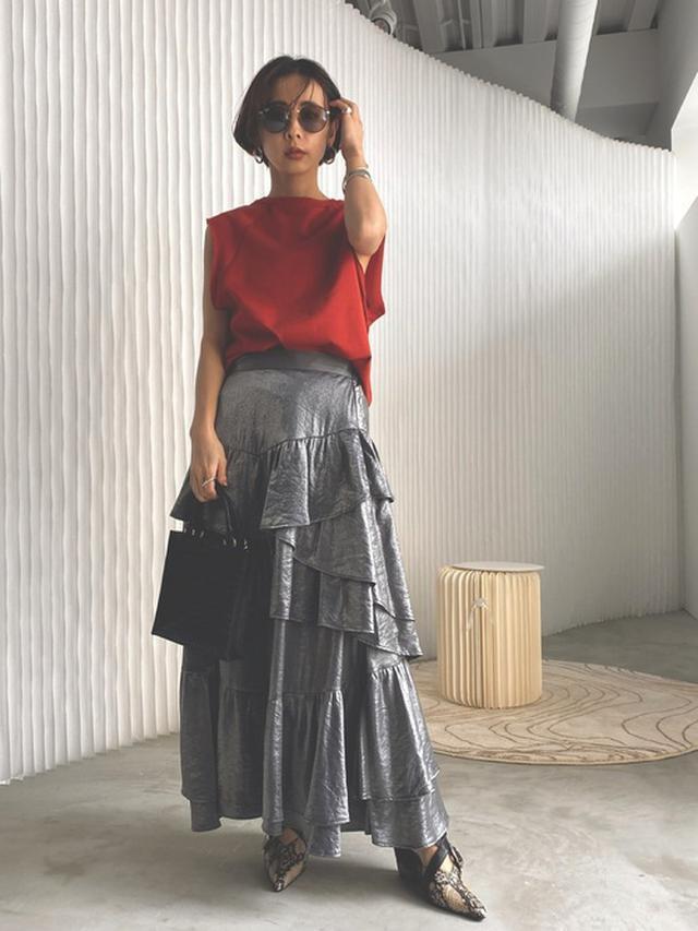 画像: 【AMERI】ティアードロングスカート 17,600円