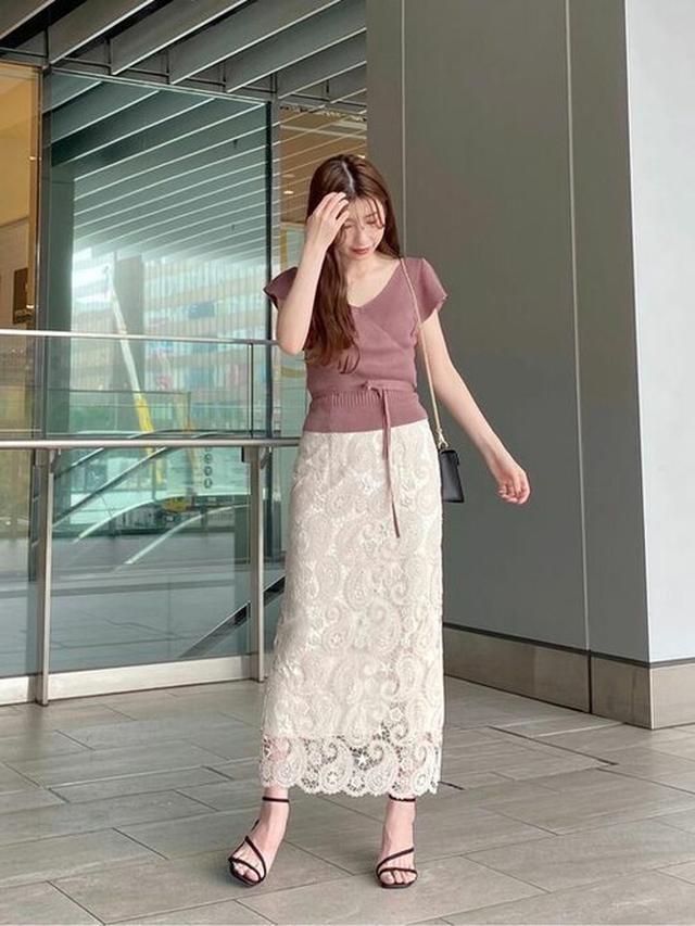 画像: 【MARCURYDUO】ペイズリーレースタイトスカート 12,100円