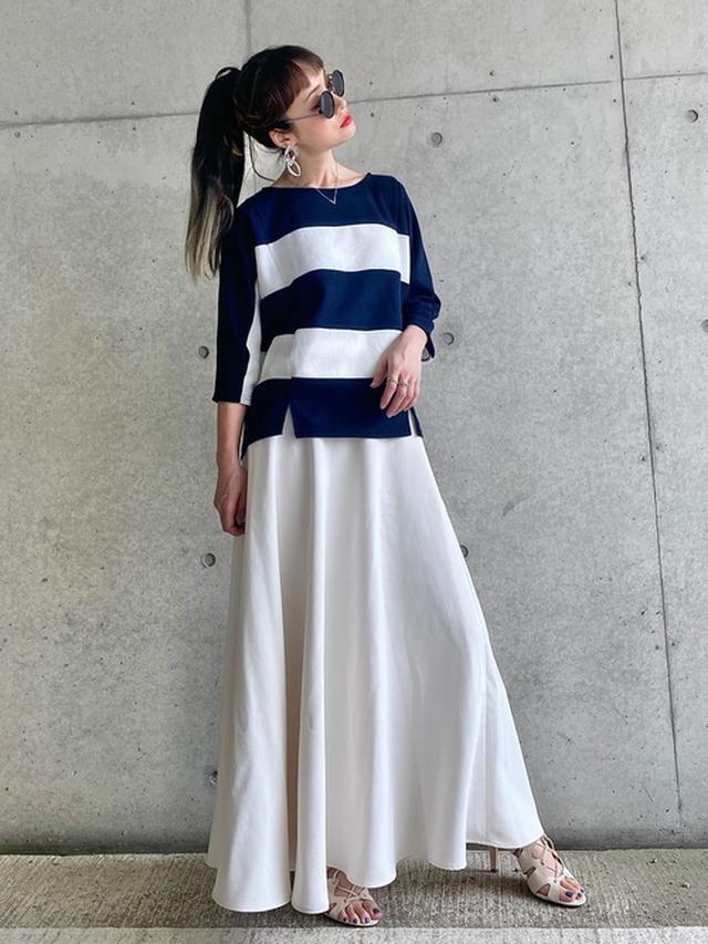 画像: 【BABYLONE】バックサテンマーメイドスカート 17,600円