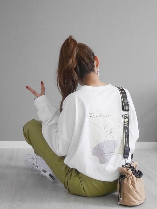 画像: 【ZARA】キルティング素材巾着ショルダーバッグ