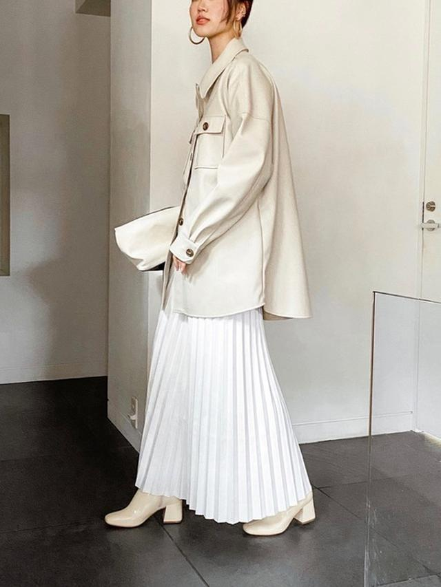 画像: 【ANT】エコレザープリーツマキシスカート9,900円