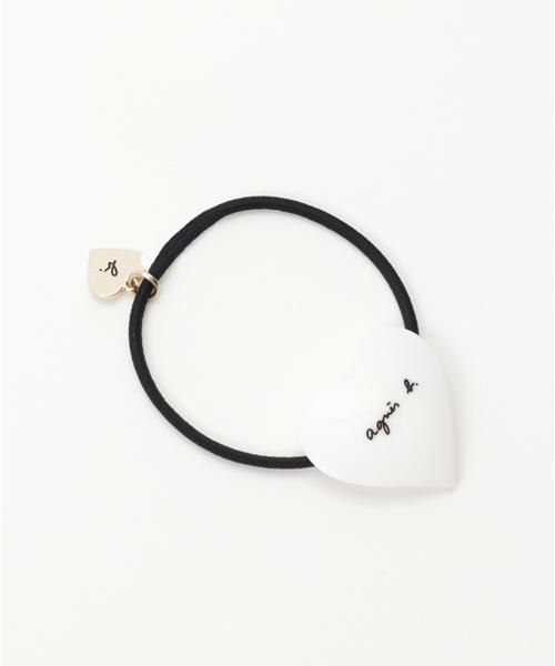 画像: 【agnes b.】ハートモチーフヘアゴム ¥1,650(税込)