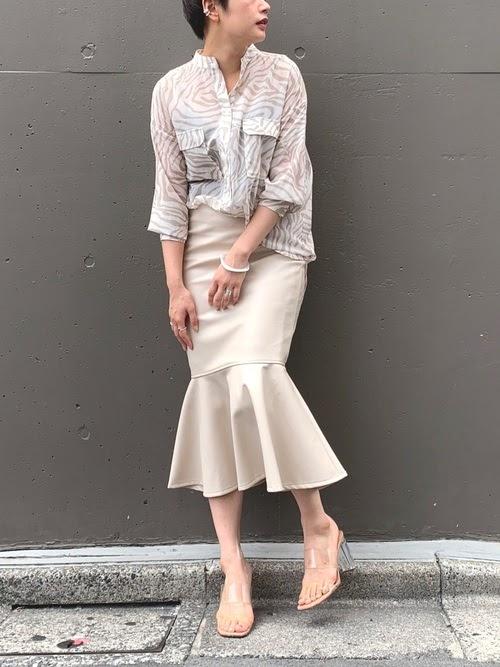 画像: 【CIAOPANIC】ゼブラバンドカラーシアーシャツ ¥8,690(税込)