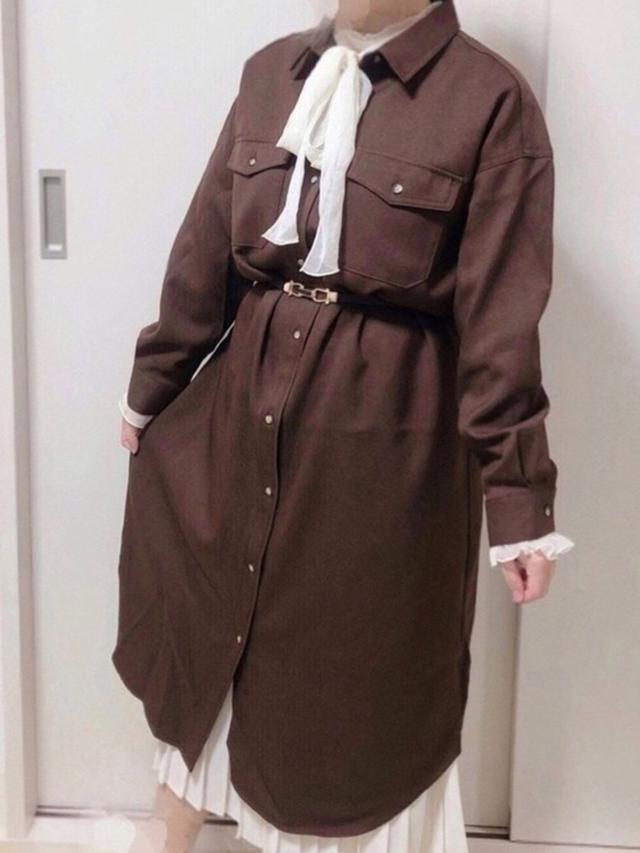 画像: 【GU】ダブルポケットワークシャツワンピース3289円(税込)