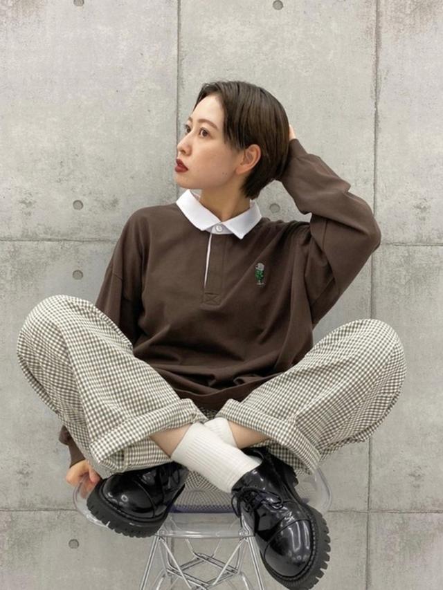 画像: 【Perushu】刺繍ラガーシャツ4995円(税込)【kutir】パンツ2995円(税込)