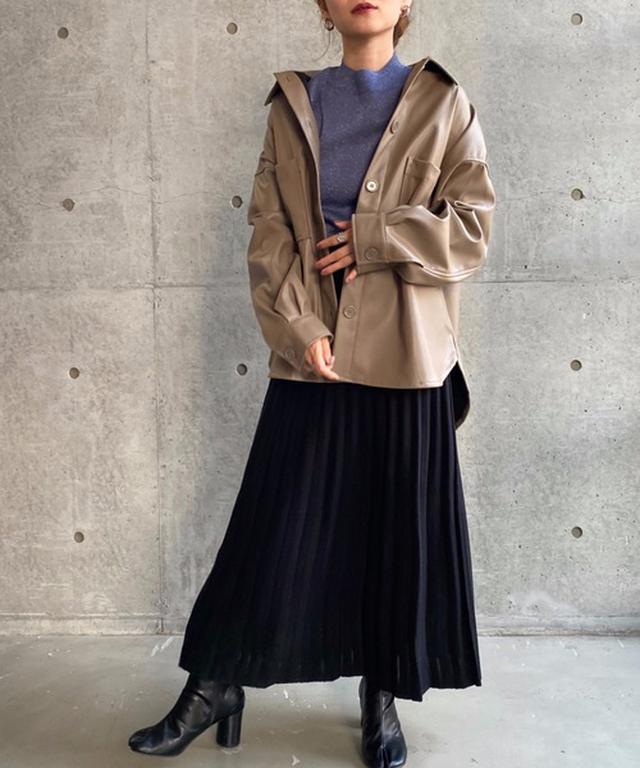 画像: 【moment+】エコレザージャケット ¥5,280(税込) 出典:ZOZOTOWN