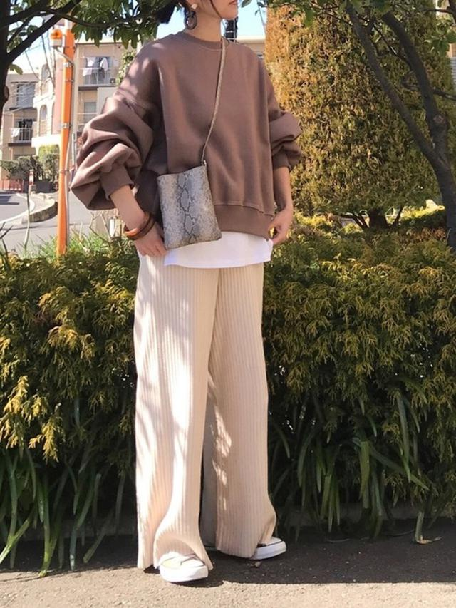 画像: 【DHOLIC】ステッチ裏起毛スウェット3729円