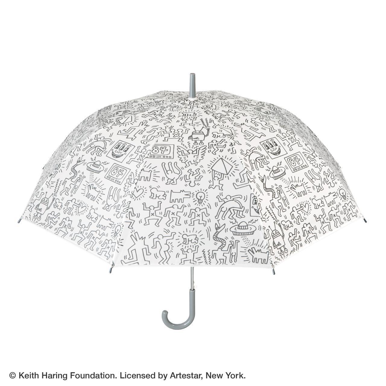 画像: 【キース・へリング × セブン-イレブン】オリジナルビニール傘TYPE-B ¥1,400(税込)