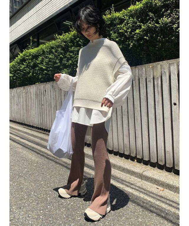 画像: 【SNIDEL】シャツセットオーバーニットベスト ¥15,950