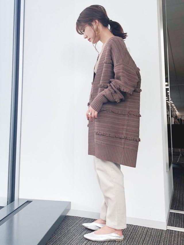 画像: 【koe】ニットカーディガン¥8,789(税込)【koe】テーパードパンツ¥5,489(税込)