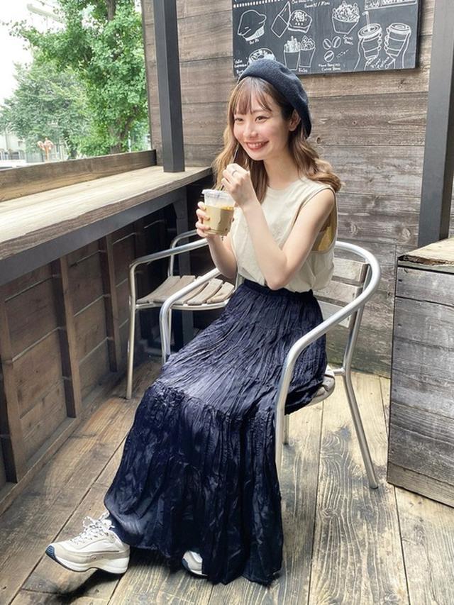 画像: 【reca】帽子¥2,200(税込)【ユニクロ】Tシャツ¥1,100(税込)【ユニクロ】スカート平均価格¥1,000~¥2,000 出典:WEAR