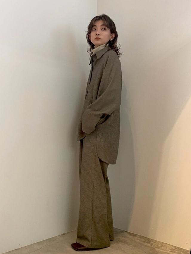 画像: 【select MOCA】ドルマンスリーブオーバーシャツ6820円 千鳥格子センタープレスタックパンツ7040円