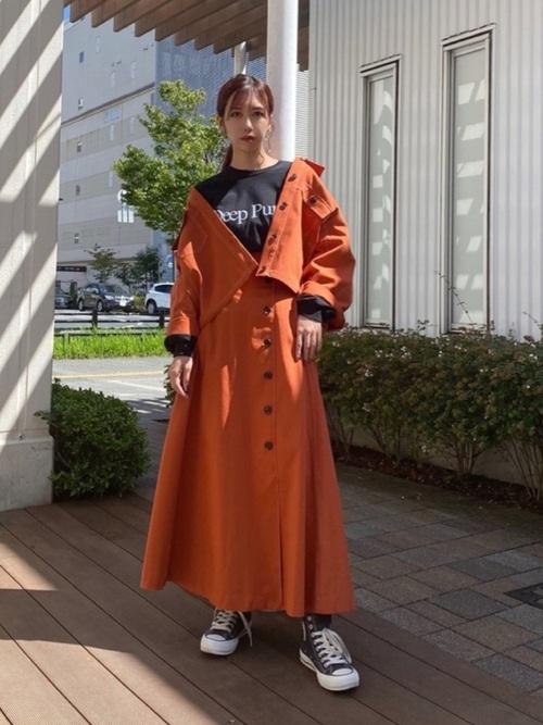 画像: 【Lui's】配色ステッチショートジャケット1万7380円 配色ステッチスリットフレアスカート1万7380円