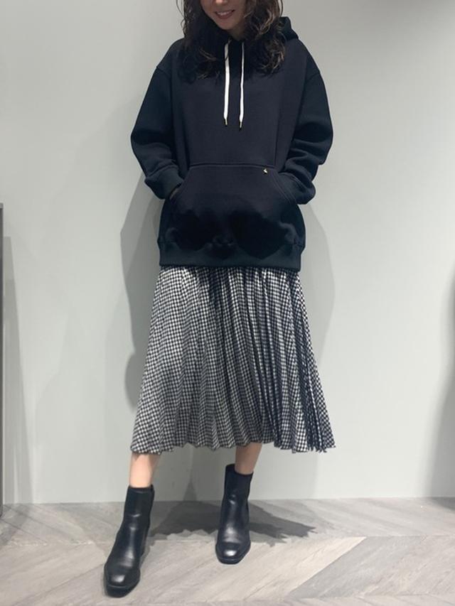 画像: 【Ezick】プリーツスカート1万450円 ダンボールパーカー9900円
