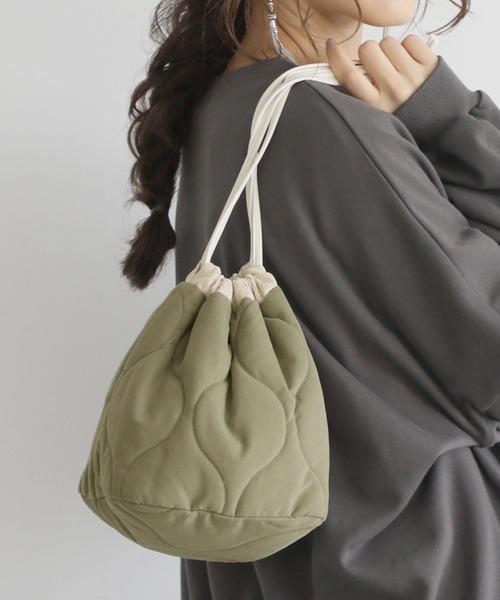 画像: 【coca】キルティング巾着バッグ¥1,529(税込) 出典:WEAR