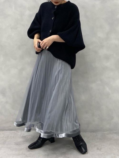 画像: 【natural couture】カーディガン¥4,290【natural couture】スカート¥4,290