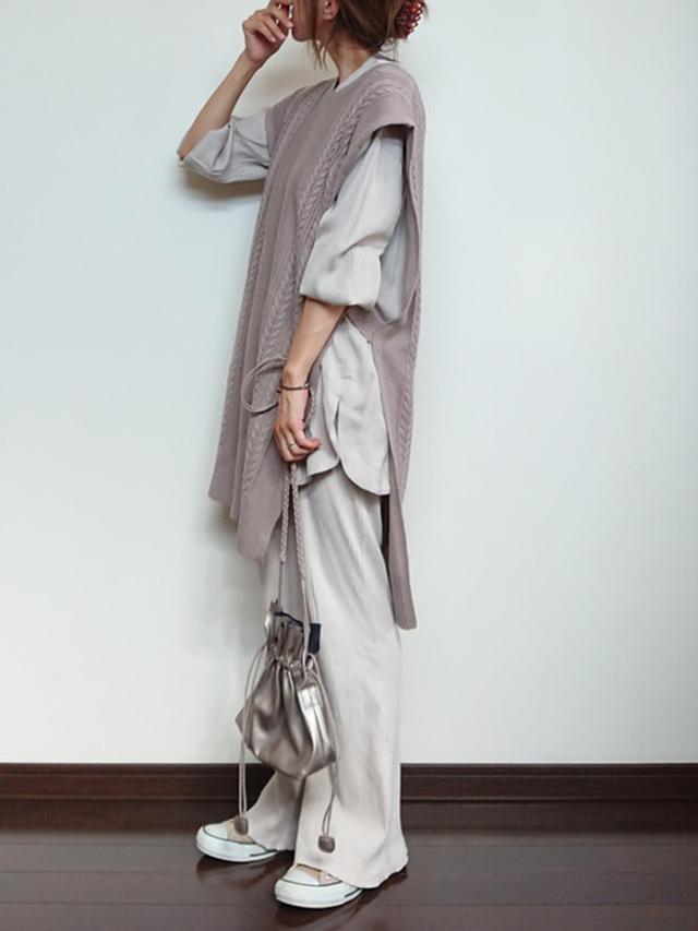 画像: 【CIAOPANIC TYPY】巾着ショルダーバッグ ¥3,190(税込) 【CONVERSE】キャンバスオールスターカラーズ ¥7,150(税込)