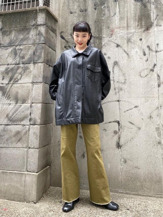 画像: 【Kastane】フェイクレザーオーバージャケット ¥8,690(税込) 出典:WEAR