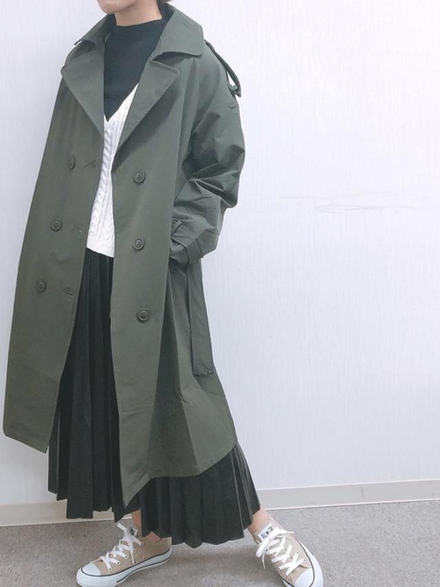 画像: 【ap retro】フェイクレザープリーツスカート¥3,595(税込み)