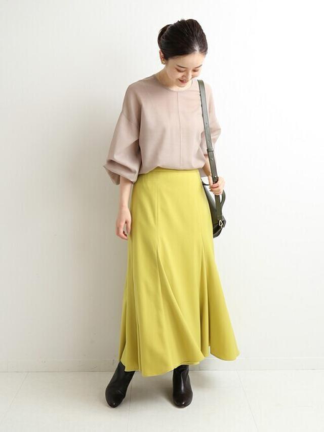 画像: 《10/13の服装》ベージュ×イエロー♡秋らしく華やかな配色にチャレンジ!