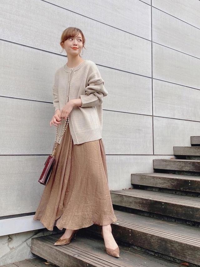 画像: 《10/13の服装》微妙な寒さにはニットカーディガンが使える♡まずはベージュからGET
