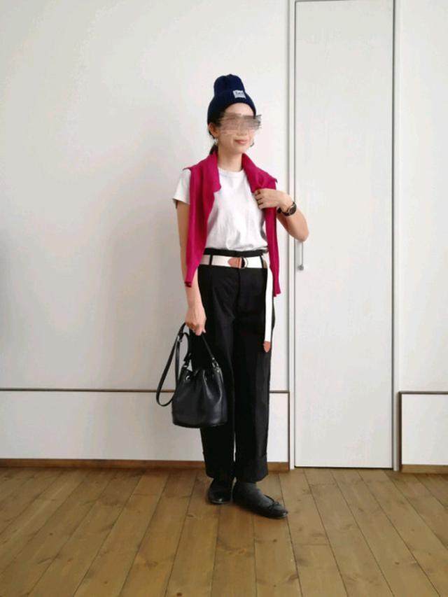 画像: 【AMERICAN HOLIC】カーディガン¥2,189(税込)【ユニクロ】Tシャツ¥1,100(税込)【Radicle】チノパン平均価格¥3,000~【Lee】ニット帽¥2,090(税込)【ヒラキ】バレエシューズ¥499(税込) wear.jp