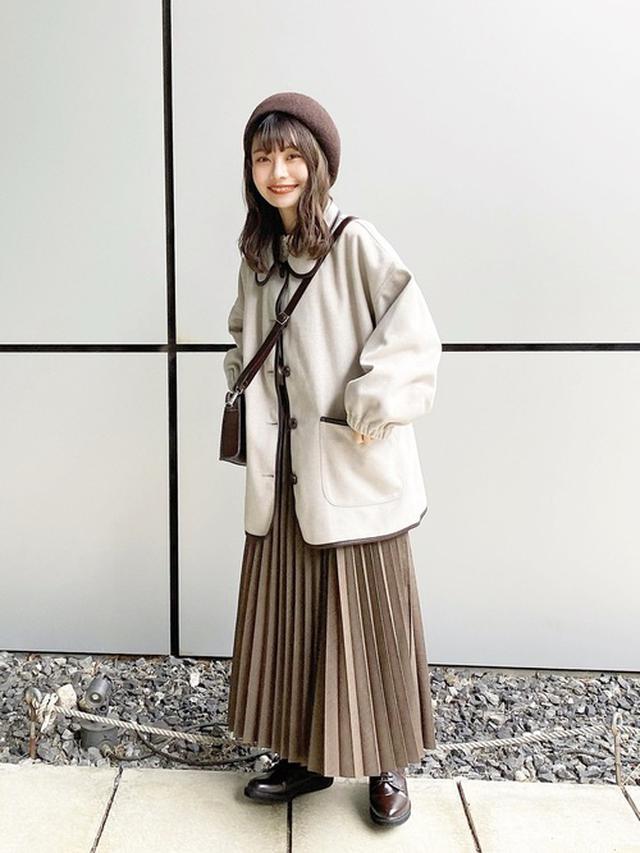 画像: 【UNIQLO】アコーディオンプリーツロングスカート 出典:WEAR