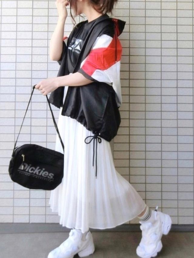 画像: 【ユニクロ】ハイウエストシフォンプリーツスカート¥550(税込み) 出典:WEAR