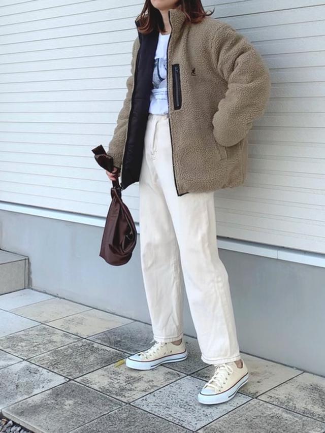 画像: 【KANGOL】シープボアフリースジャケット ¥6,930(税込) 出典:ZOZOTOWN