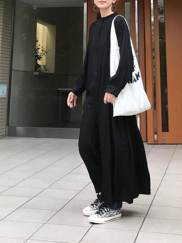 画像: 【Libra】バンドカラー長袖ワンピース¥3,960(税込み) 出典:WEAR